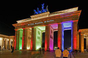 Brandenburger Tor beim Festival of Lights in Berlin (Foto: Ralf Salecker)